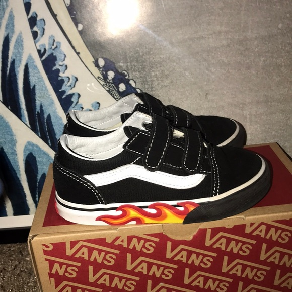 Vans Shoes | Toddler Flame Velcro Old
